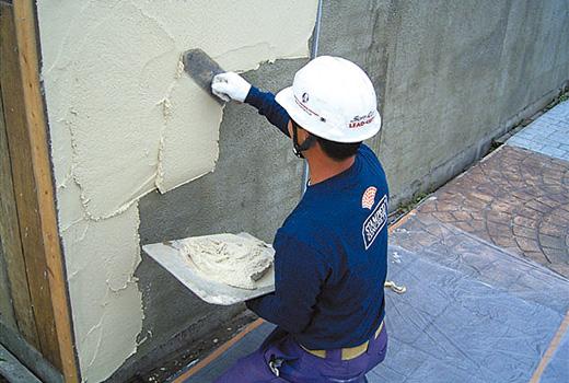 スタンプミックス壁 塗りつけ