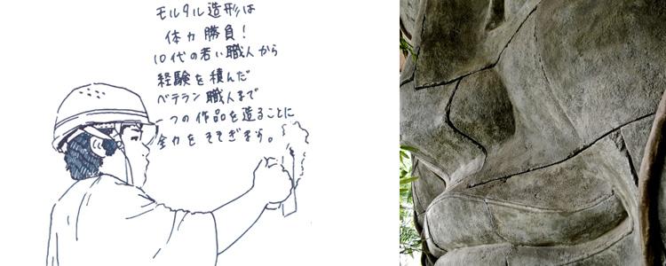 巨大な石像